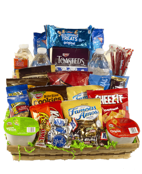 Snack Basket | U.S. Retail Flowers - Flowers, Plants and Gifts with same day delivery for all occasions.